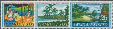 Samoa SG302-4 21st Anniverary of the South Pacific Commission set of 3
